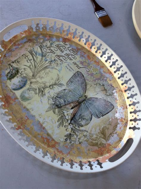 Decoupage Tray Ideas - decoupage tray decoupage work decoupage