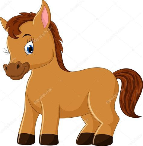 cute cartoon baby pony caricatura lindo caballo archivo im 225 genes vectoriales
