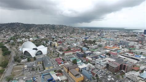 port  spain part  trinidad aerial view youtube