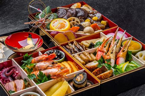 new year food items tokyo sushi academy osechi new year s japanese food