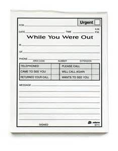 while you were out template 9 best images of leave a message template printable
