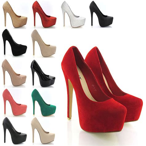 high heels sizes new womens concealed platform stiletto high heels