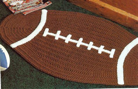 football rugs football basketball rugs crochet pattern home decor
