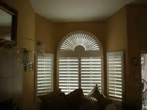 Shutter Window Coverings Sunburst Arch Shutter Plantation Shutters