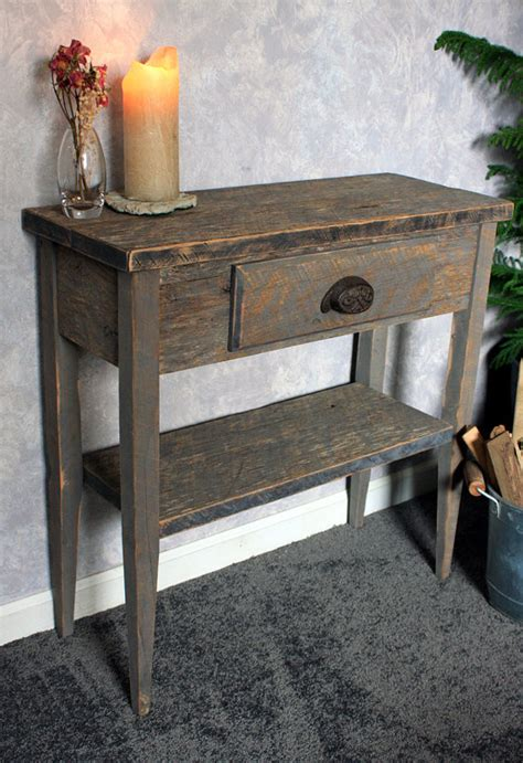 Small Entrance Table Small Entry Table Gray Wood Sofa Table Gray Reclaimed Wood