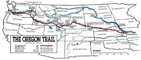 map of oregon trail 1850 apush timeline preceden