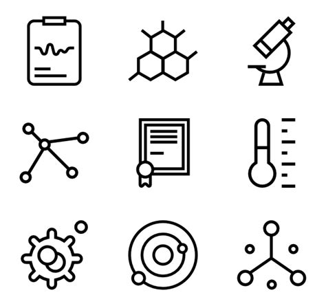 Laboratory Icons 1 066 Free Vector Icons Chemistry Coloring Page