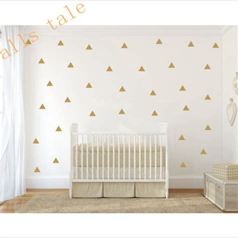 gold wall stickers gold triangle wall sticker vinyl decals set of 35pcs