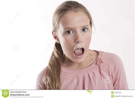 youngest looking women young girl looking shocked stock photography image 26796702
