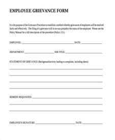 Employee Form Template by Doc 460595 Employee Complaint Form Exle Employee