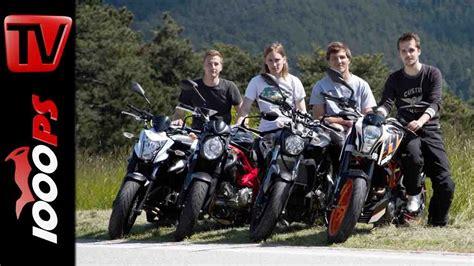 Einsteiger Motorrad Bis 5000 Euro video einsteiger motorr 228 der 2014 nakedbike vergleich