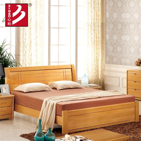 wooden home furniture beech wood bed bedroom sets