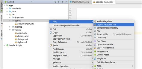 android layout sw600dp land android studio newly created directory not appearing in