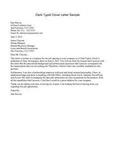 Computer Clerk Cover Letter by Office Clerk Cover Letter Sles Resume Genius