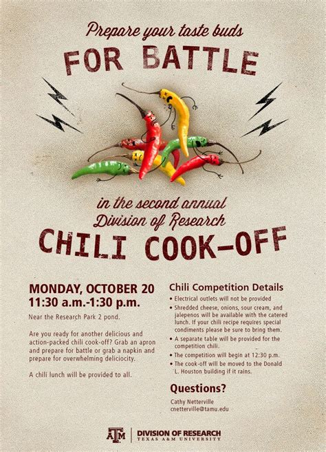 Chili Cook Off Decorations Chili Cook Off Flyer Poster Graphic Designy Pinterest
