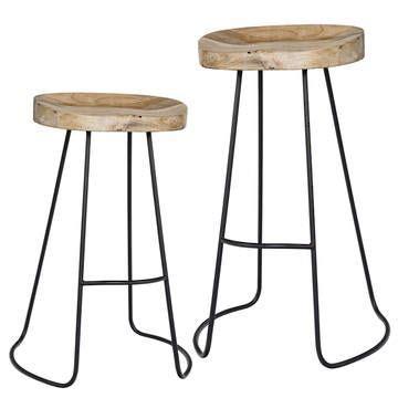 Best Of India Gavin Bar Stool gavin stools l 215 counter height 245 bar height
