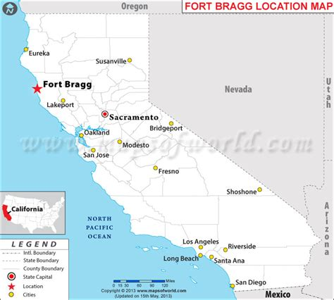 where is fort located in map where is fort bragg california