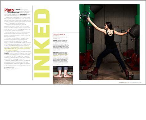 magazine layout design awards kenyon college bulletin aldrich design