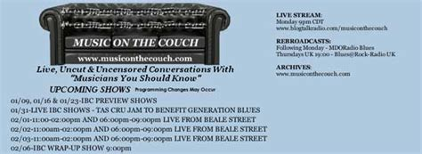 music on the couch blues festival guide magazine and online directory of