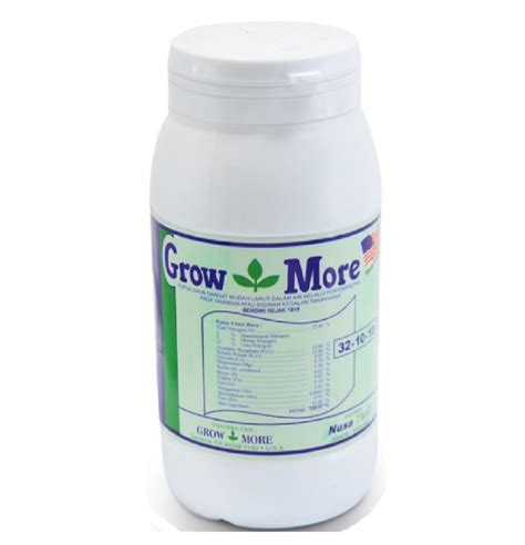 Growmore Pupuk Bunga pupuk growmore 32 10 10 454 gram jual tanaman hias