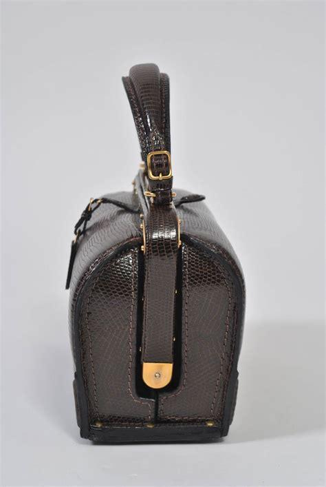 Fashion Bag 209 lederer 1960s brown lizard handbag at 1stdibs