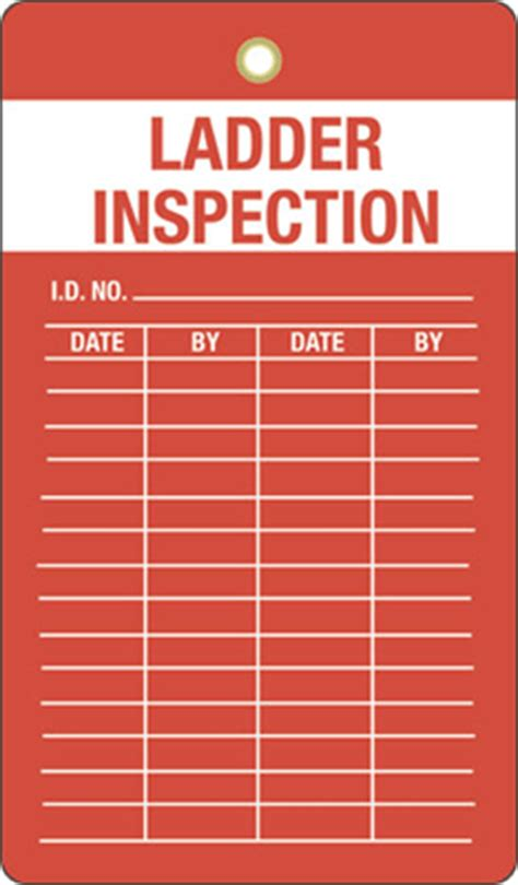 ladder inspection template ladder inspection tags