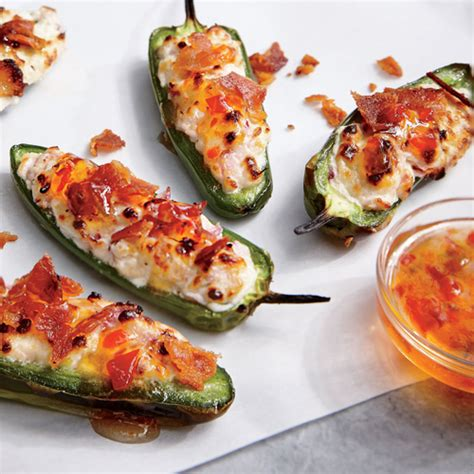 cooking light appetizers bacon goat cheese jalape 241 o poppers superfast appetizers