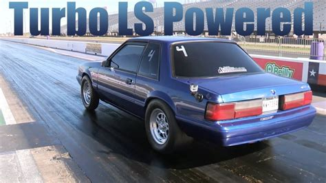 turbo ls powered mustang drag gm authority