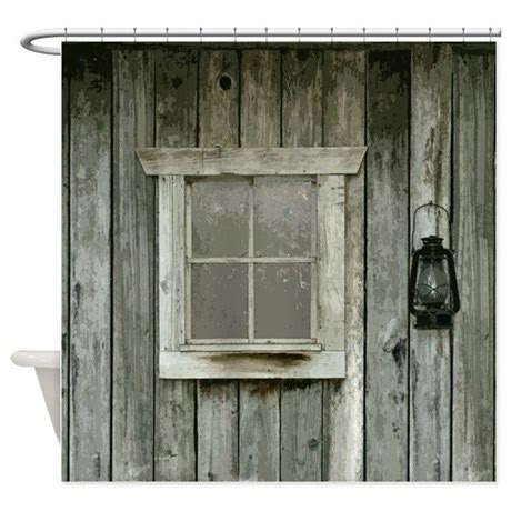 cabin shower curtains old wood cabin shower curtain by saltypro shop