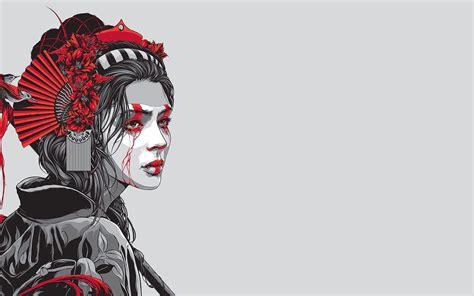 geisha warrior tattoo art geisha warrior wallpaper 28352