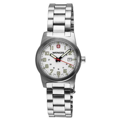 wenger swiss watches field classic white and
