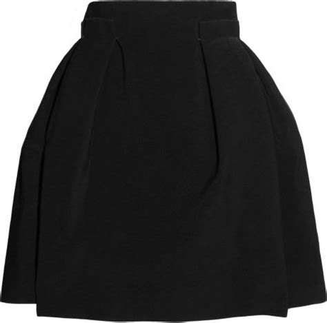 lanvin high waisted stretch crepe pleated skirt in black