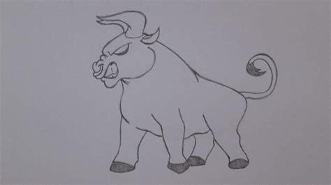 Imagenes De Toros Para Dibujar A Lapiz | c 243 mo dibujar un toro youtube