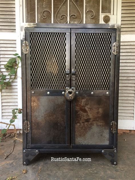 metal and wood cabinet industrial steel locking liquor cabinet industrial