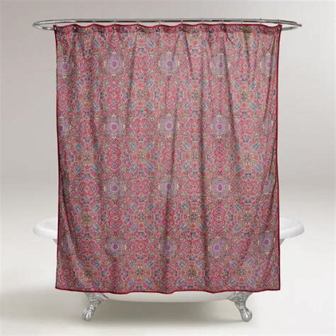 world market shower curtains dahlia shower curtain world market