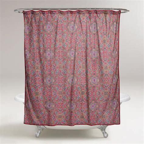 world market shower curtain dahlia shower curtain world market