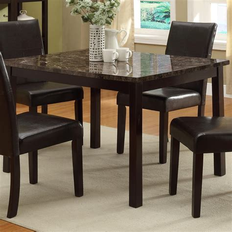 crown pompei rectangular dining table with faux