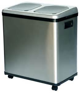 Stainless Steel Garbage Can On Wheels Itouchless Nx 16 Gallon Stainless Steel Recycle Bin