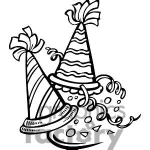 new year clipart black and white black and white new years hats search results calendar