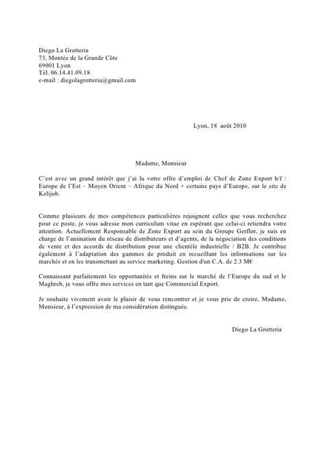 Exemple Lettre De Motivation Vente Anglais Lettre De Motivation Commerce Le Dif En Questions
