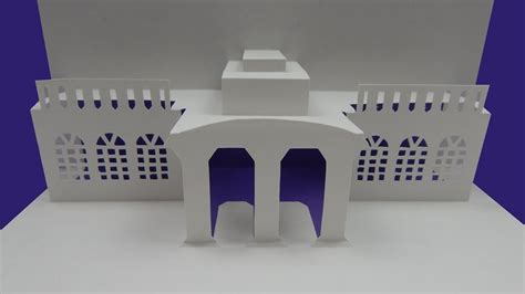 how to make pop up card templates how to make an architecture pop up card house building