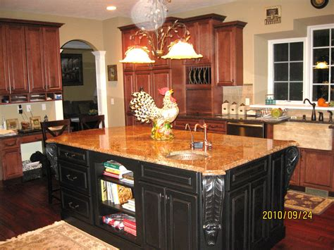 painted kitchen featuring oversized black island our french country kitchen with island painted in