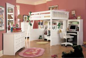 Lea Bedroom Furniture white loft bunk bed full size with desk and wooden swivel
