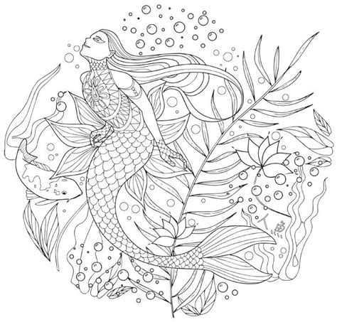 mermaid mandala coloring pages 447 best images about mermaids to color on pinterest