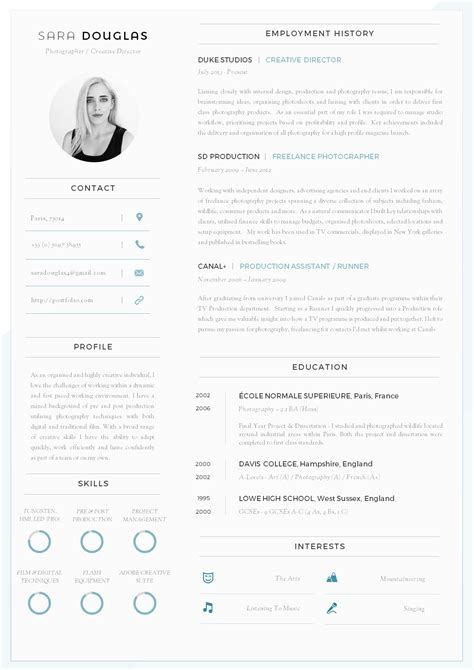 cvdesignco connie one page cv template unbelievable resume example
