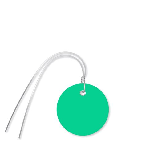 Cable Ties With Label Tag Pengikat Kabel Dg Label Tag 25 X 110 Mm plastic circle wired tags in green delivery