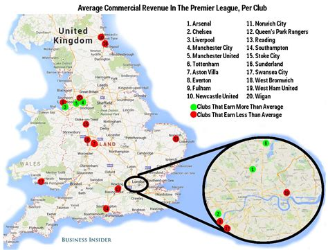 map of premier league teams related keywords suggestions for epl 2016 map