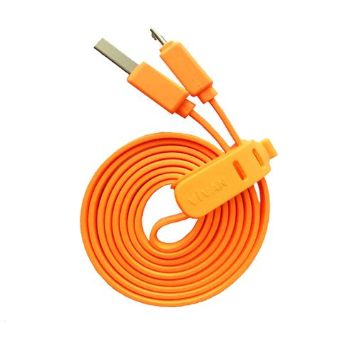 Kabel Data Vivan Panjang jual vivan csm100 micro usb kabel data orange 100 cm