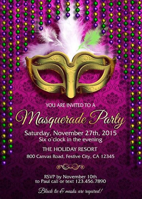 free masquerade invitation templates masquerade invitation exle invitations