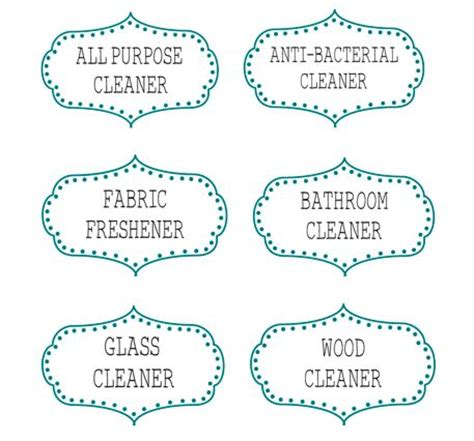 printable glass labels printable labels label for and cleaning supplies on pinterest